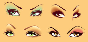 Set Augen vektor abbildung