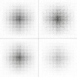 Set Auslegungelemente Halbtonkreis Halbtonquadrat Halbton-hexahedron Halbtonstern Lizenzfreies Stockbild