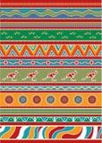 Set of Australian pattern Royalty Free Stock Photography