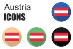 Set austria flat icons Stock Photo