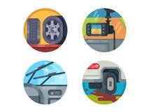Set of auto icons Stock Photos