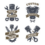 Set of auto logos, garage, service, spare parts. Royalty Free Stock Images