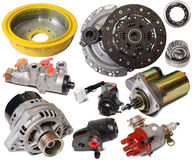 Set of auto parts stock photos