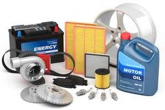 Set of auto parts Stock Image