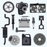 Set auto parts Royalty Free Stock Photos