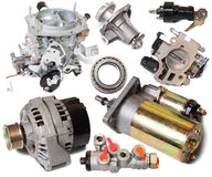 Set of auto spare parts royalty free stock photography