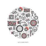 Set of auto spare parts Royalty Free Stock Photo
