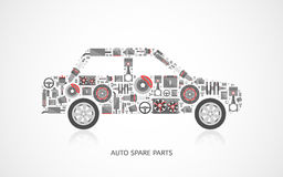 Set of auto spare parts Stock Image