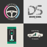 Set of automobile driving school vector icons Stock Photography