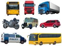 Set of automobiles. On white Royalty Free Stock Photo