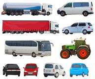 Set of automobiles royalty free stock images