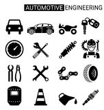Set of automotive engineering icon design for industry Royalty Free Stock Photos