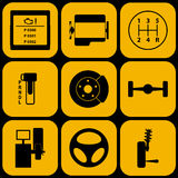 Set of automotive icons Stock Photography