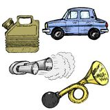 Set of automotive objects Royalty Free Stock Photography