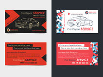 Set of Automotive Service business cards layout templates. vector illustration