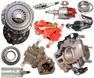 Set of automotive spare parts Stock Photo