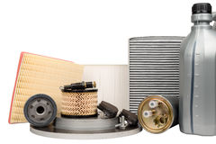 Set of automotive spare parts Royalty Free Stock Photography