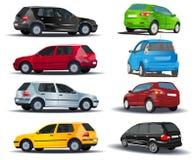 Set Autos lizenzfreie abbildung