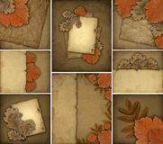 Set of autumn backgrounds Royalty Free Stock Image