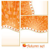 Set of autumn banners Royalty Free Stock Image