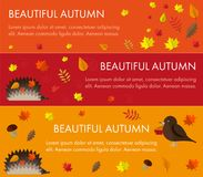 Set autumn banners. Set of bright autumn banners. horizontal orientation. They can be used for advertising or site vector illustration
