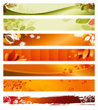 Set of autumn banners Royalty Free Stock Photo