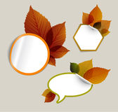 Set of  autumn discount tickets, labels, stamps... Stock Images