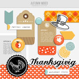 Set of  autumn fall scrapbooking and web elements Stock Photo