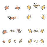 Set of autumn frames. Cute vector illustrations Royalty Free Stock Photos