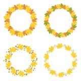 Set of autumn frames,  illustration. Collection of autumn frames,  illustration Stock Photos