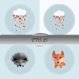 Set of autumn illustrations. Nice vector illustration Royalty Free Stock Image