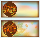 Set autumn sale banners Stock Photos