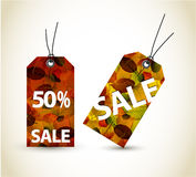 Set of  autumn sale tags Royalty Free Stock Images