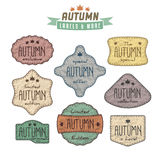Set of autumn sales related vintage labels Stock Photography