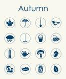 Set of autumn simple icons Royalty Free Stock Photo