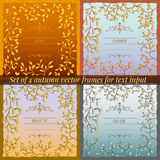 Set of 4 autumn vector frames for text input Stock Photo