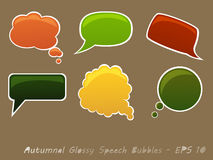 Set of Autumnal Speech Bubbles Stock Photography