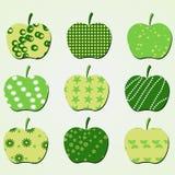 Set av äpplesymbolen Royaltyfri Foto