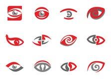 Set av ögonsymboler Royaltyfria Foton