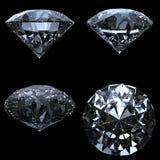 Set av 4 diamanter med clippingbanan vektor illustrationer