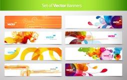 Set av abstrakt färgrika rengöringsduktitelrader. Arkivbilder