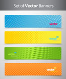 Set av abstrakt färgrika rengöringsduktitelrader. royaltyfri illustrationer