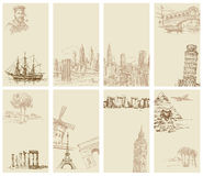 Set av affärskort Arkivbilder
