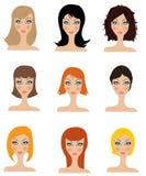 Set av att utforma för hår Royaltyfri Fotografi
