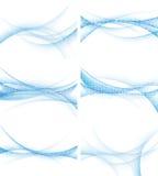 Set av bakgrunder med abstrakt waves, vektor Arkivfoton
