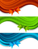 Set av baner med bowen Royaltyfri Foto