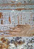 Set av baner med textur av den gammala målarfärgen Royaltyfria Bilder