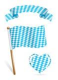 Set av Bayern flaggasymboler vektor illustrationer