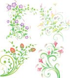 Set av blom- element 免版税库存照片