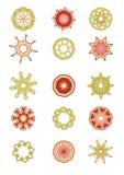 Set av blom- element royaltyfri illustrationer